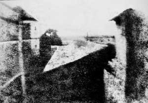 Erstes Foto von Nicéphore Niepce